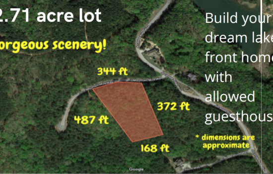 2.71 acre lot in Salem SC– near Lakes Keowee & Jocassee – Free boat & camper storage – Similar lots sell for $30,000 and up – Yours for $22,000 Cash. Seller Financing Available.