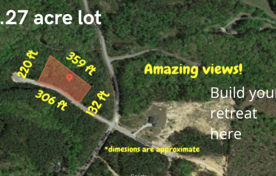 1.27 Acre Lot in Salem SC– near Lakes Keowee & Jocassee -Free boat & camper storage! – Similar lots sell for $25,000 and up – On Sale for only $19,000 Cash! Seller Financing Available.
